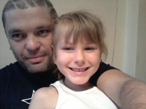 С Миши, едната ми племеничка, 11.08.2012
