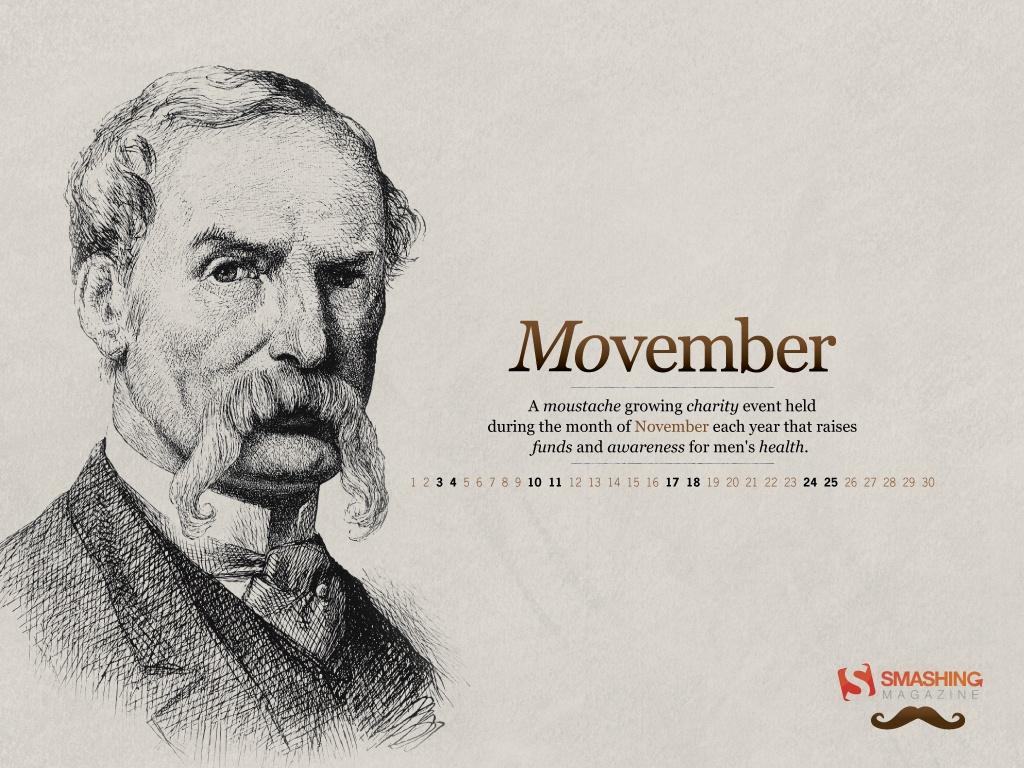 Smashing Magazine Movember Wallpaper