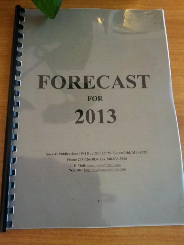 Raymond Merriman, Forecast 2013